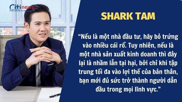 Những lời chia sẻ của Shark Tam