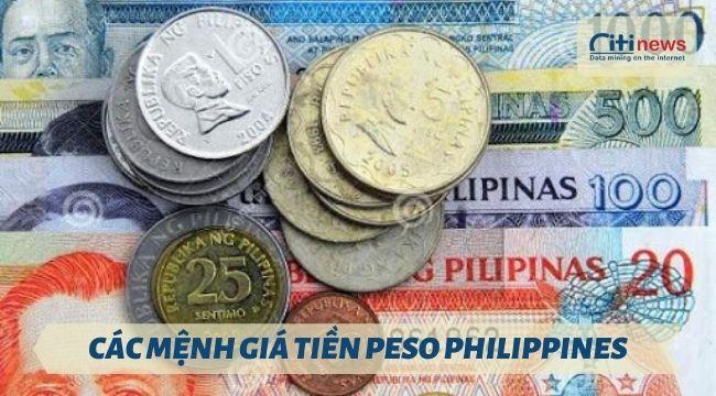 các loại tiền peso Philippines đang lưu hành