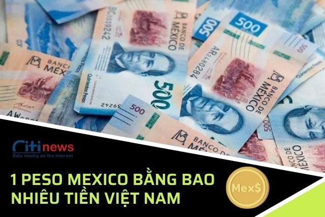 1 Peso Mexico bằng bao nhiêu VND