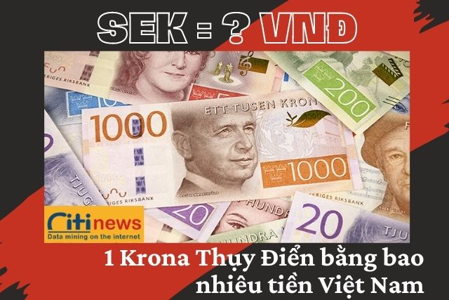 Tìm hiểu 1 Krona Thụy Điển bằng bao nhiêu tiền Việt Nam?