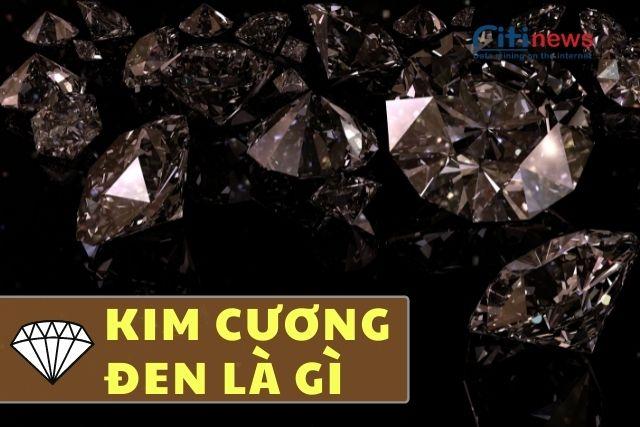 Kim cương đen tự nhiên có màu mờ đục, bề mặt rỗ, xốp