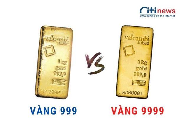 Sự khác biệt giữa vàng 999 và vàng 9999