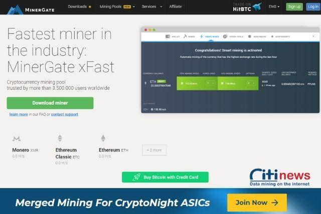 Cách đăng lý tài khoản Minergate